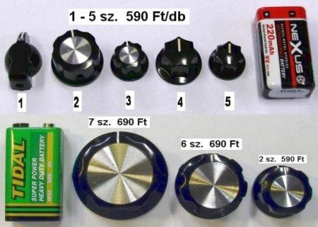 Forgatógombok, 6-7 számúból - 1 db