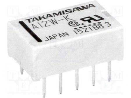 12 V/1000 ohm, 2 morze, A12W-K Takamisawa relé