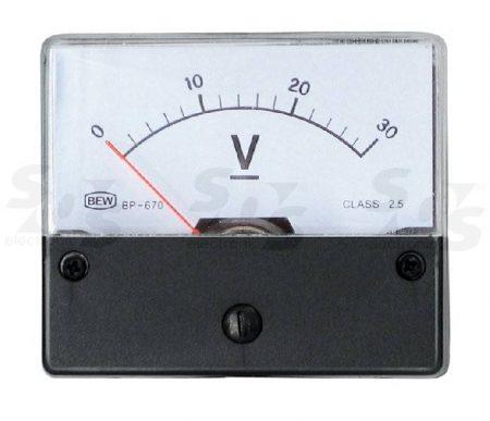 30 V DC Deprez-műszer