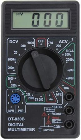 DT-830B típ. mini DMM