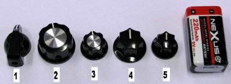 Forgatógombok 1-5 számú - 1 db