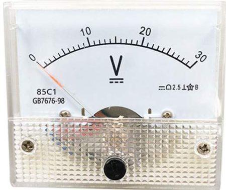 30 V DC, 85C1, Deprez-műszer