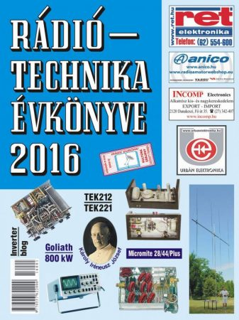 A RÁDIÓTECHNIKA ÉVKÖNYVE 2016