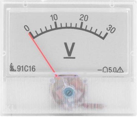 30 V DC, 91C16,  Deprez-műszer