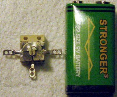 2 x 2-17 pF kerámia pillangó légtrimmer - 1 db